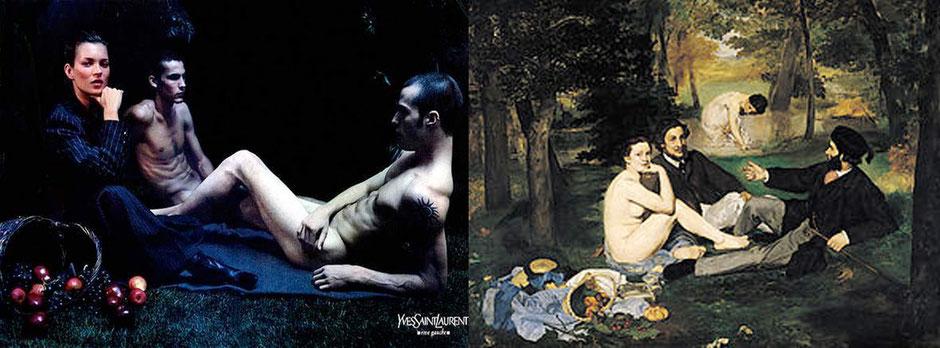 Le Déjeuner sur l'herbe (Édouard Manet)  - Yves Saint Laurent