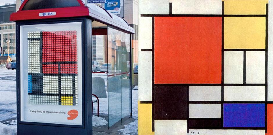 Composición con rojo, amarillo y azul (Piel Mondrian) - CBS