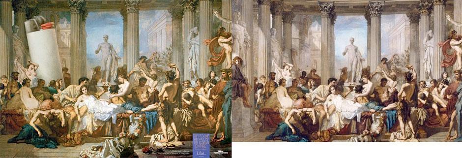 Los romanos de la decadencia (Thomas Couture) - Cia de Bolso