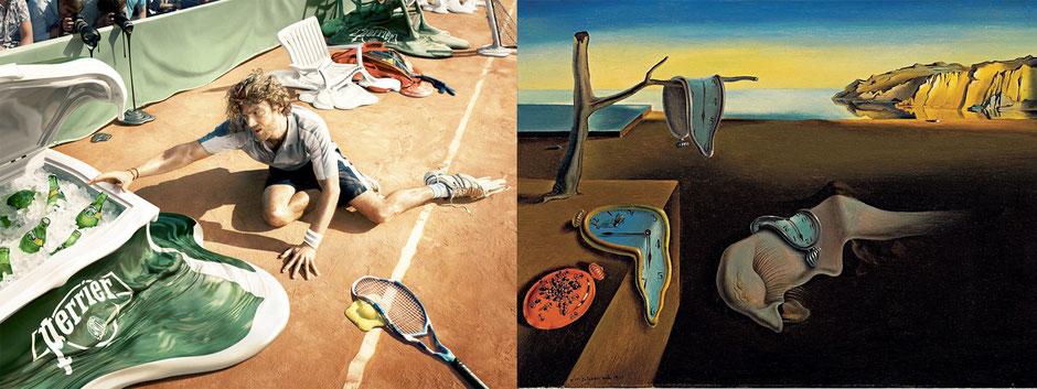 La persistencia de la memoria (Dalí) - Perrier