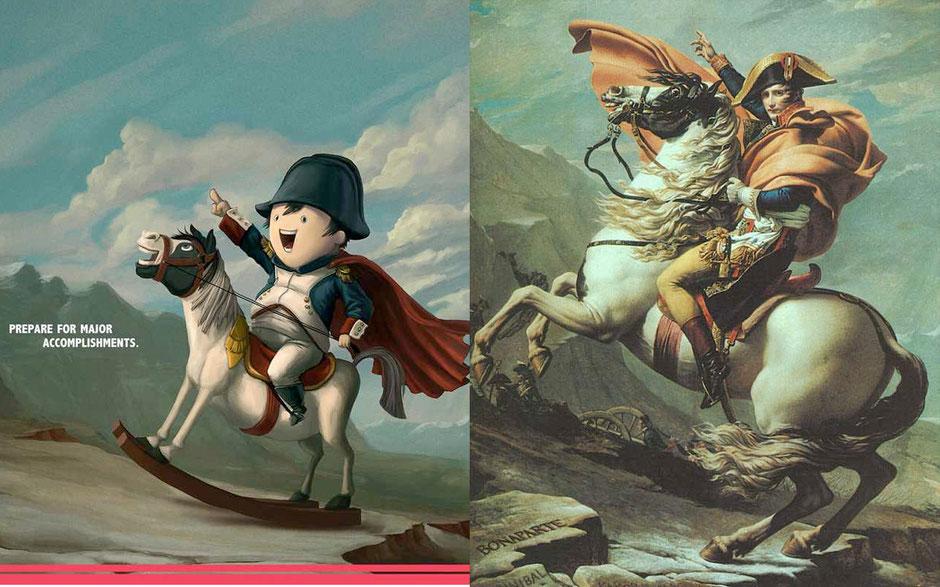 Napoleón Cruzando los Alpes (  Jacques-Louis David) - Aliança Francesa