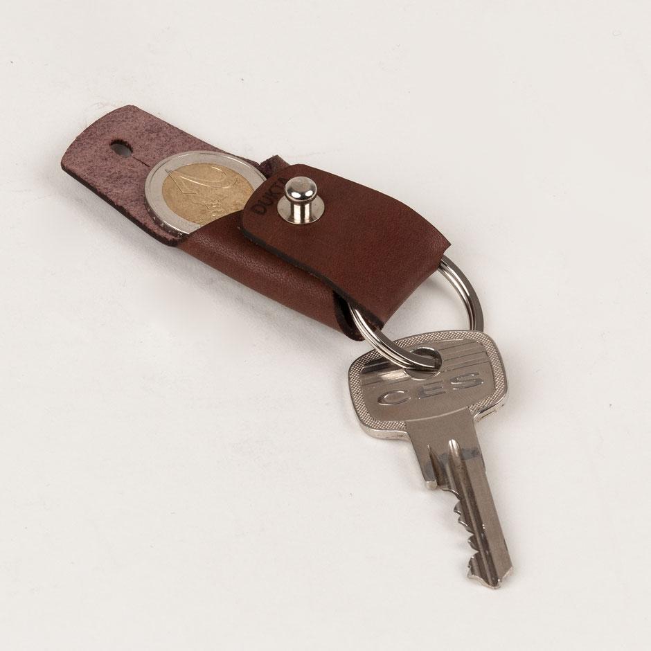 minimalistischer Schlüsselanhänger Leder Echtleder Schlüsselbag