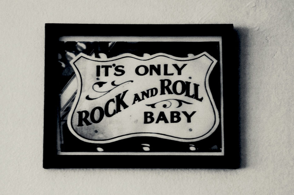 It's only Rock'n'Roll framed, black and white