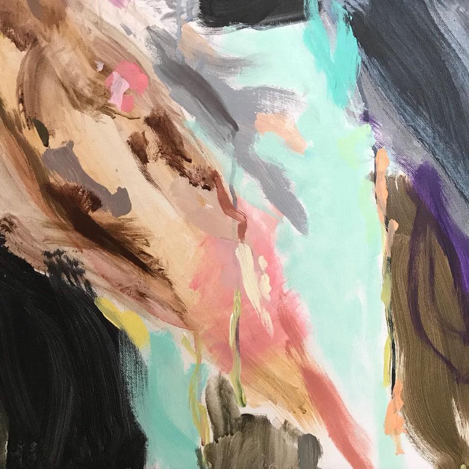 Noch eine Lieblingsstelle. Detail des Gemäldes 'Get Jiggy'