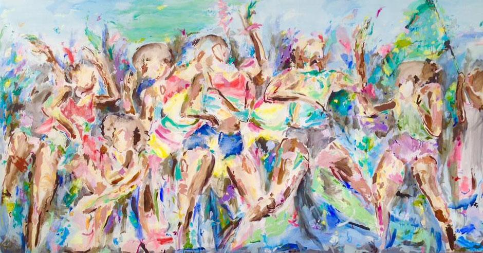 großes Gemälde der Künstlerin Zoë MacTaggart