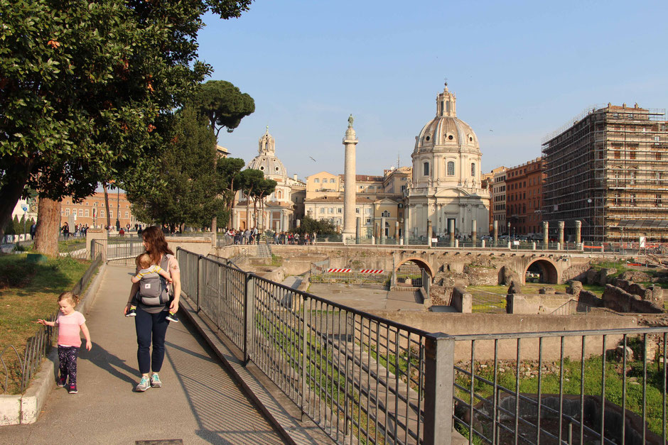 Rome with toddlers, children, kids