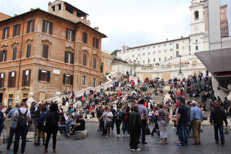 Rome Spanish Steps With Kids