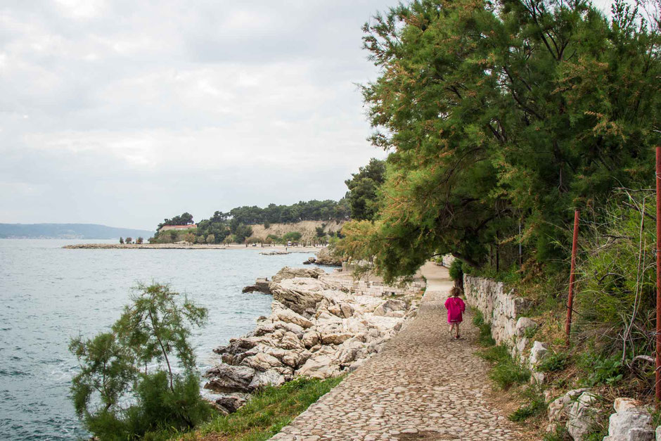 Jezinac beach in Split Croatia