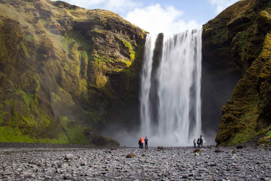 Skogafoss Waterfall and Hike with Kids