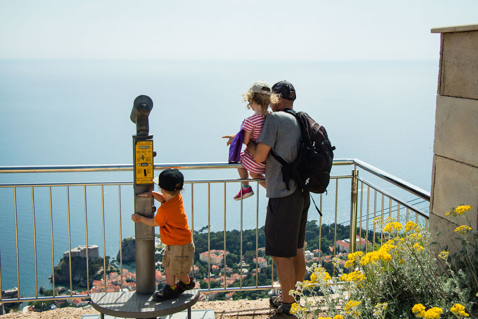 Mount Srd Cable Car in Dubrovnik Croatia with Kids