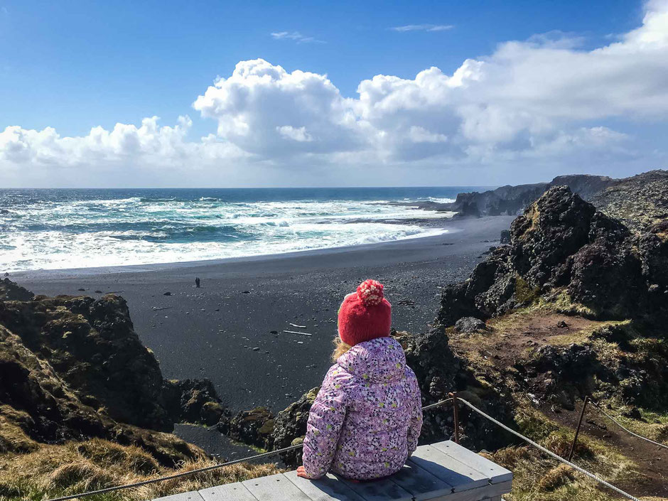 Djupalonssandur Beach Snaefellsjoekull National Park Iceland with kids