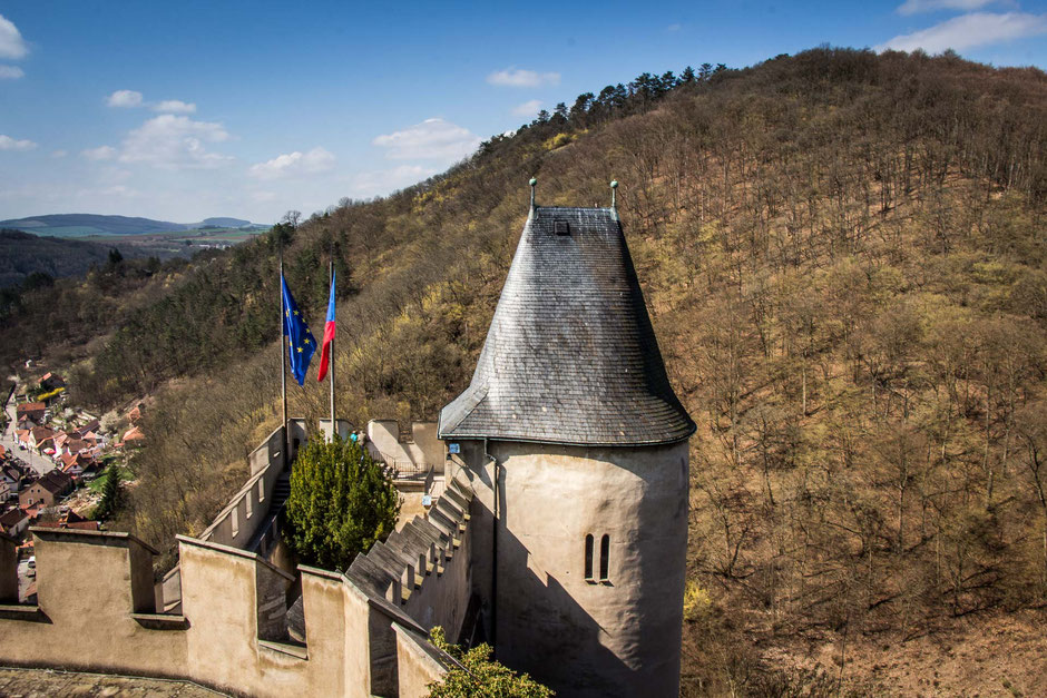 Karlstejn Castle with kids