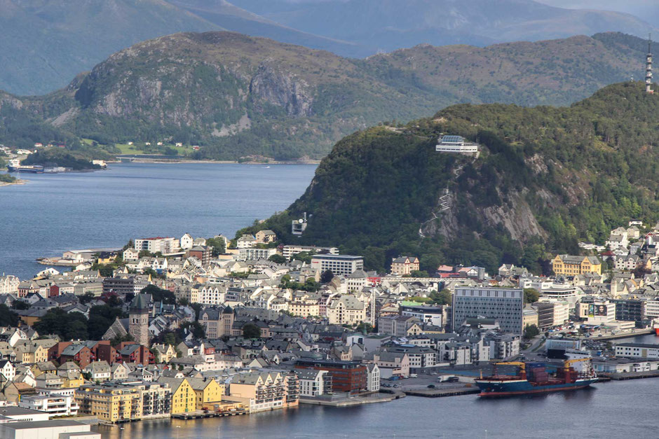 Aksla Viewpoint in Alesund Norway