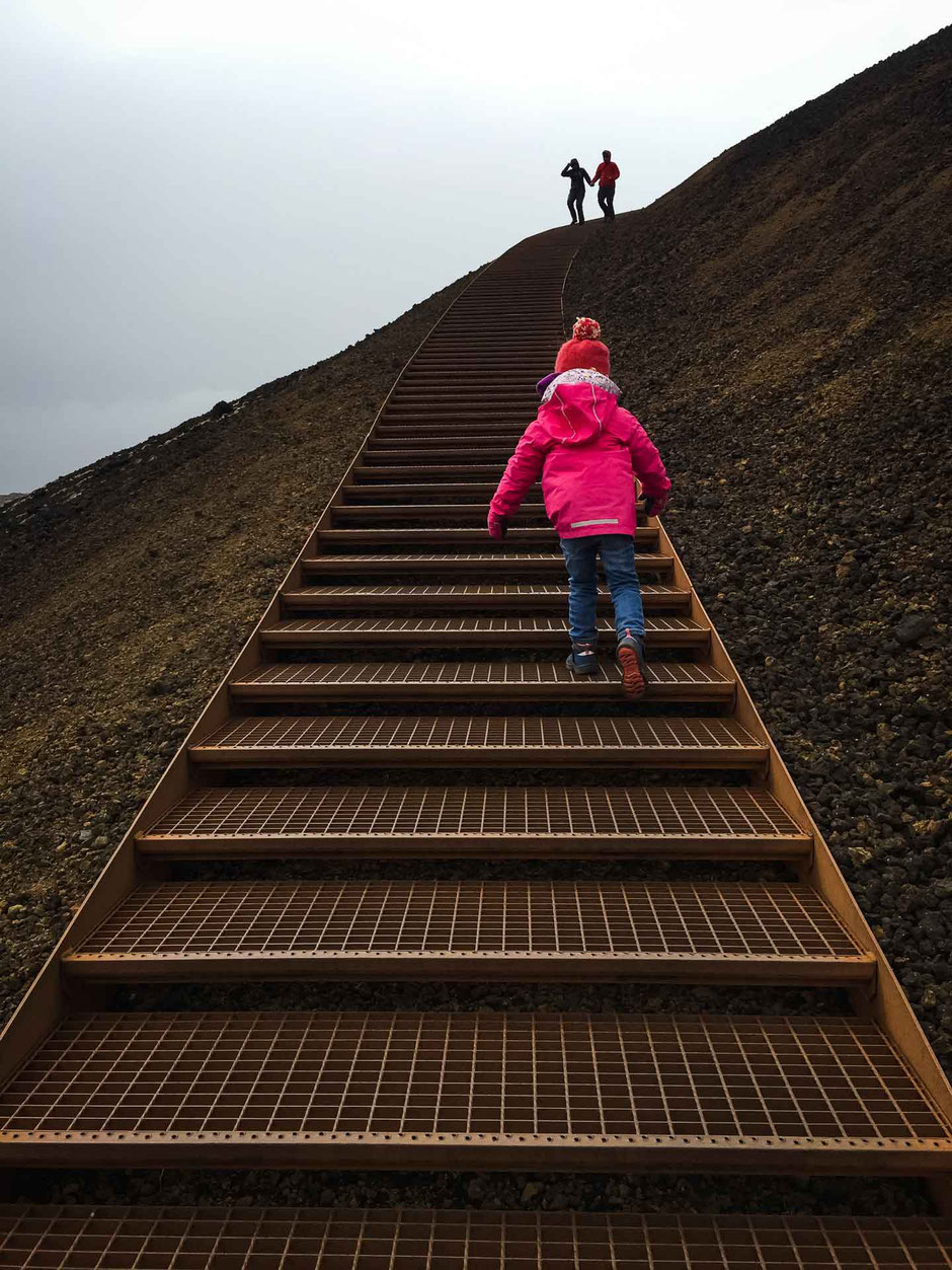 Saxholl Volcano Crater Snaefellsjoekfull National Park Iceland with kids