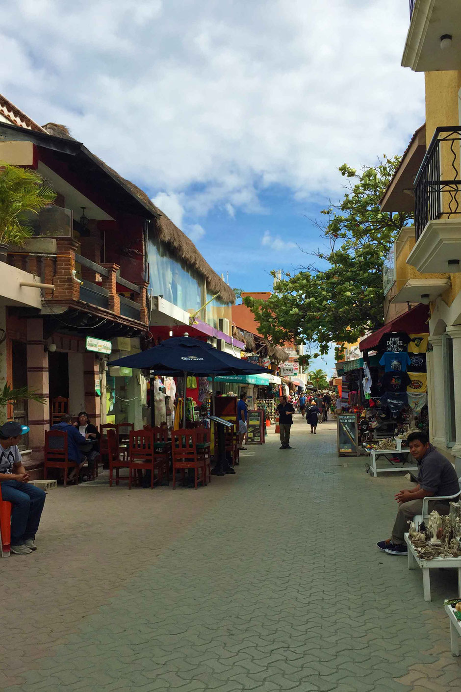 A Day of Exciting Family Fun on Isla Mujeres - Walking down the charming pedestrian only shopping street Miguel Hidalgo.
