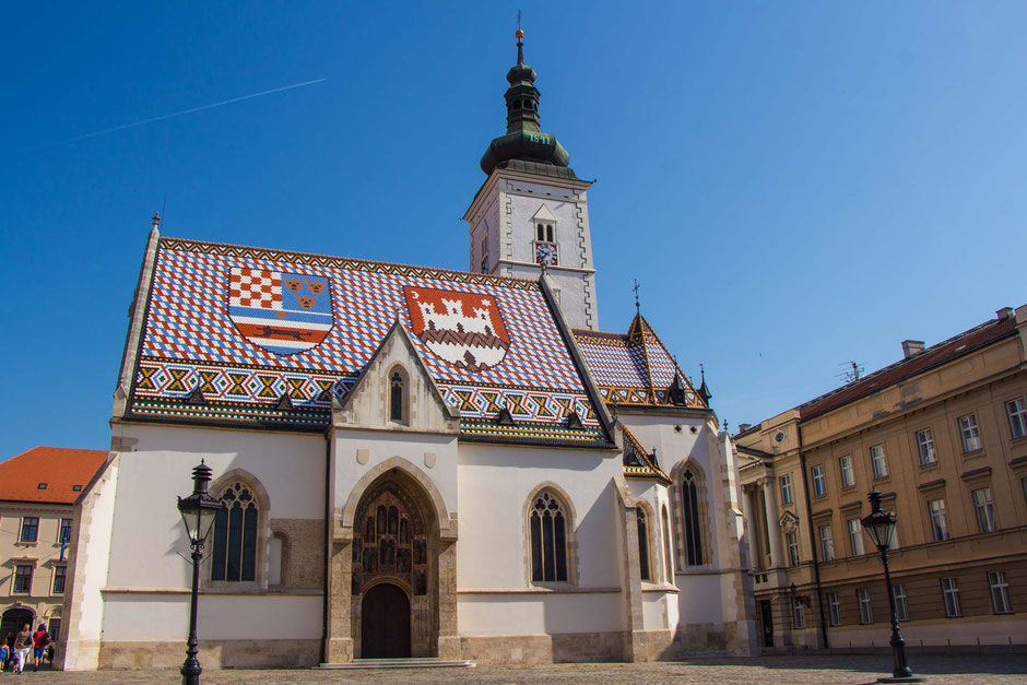 St. Mark's Church in Zagreb Croatia