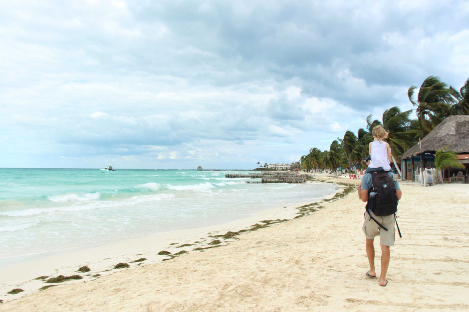 Playa Norte Isla Mujeres Mexico with kids