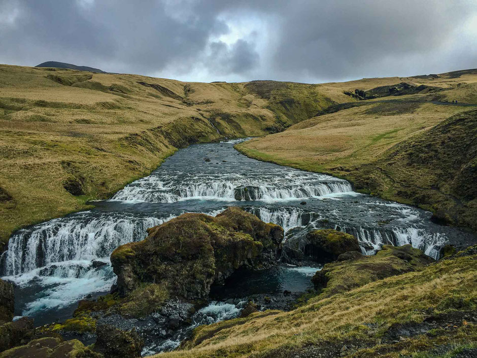 Hike near Skogafoss Waterfall in South Iceland
