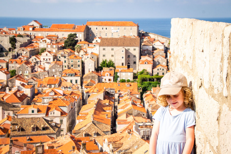 Walking the City Walls in Dubrovnik Croatia with children