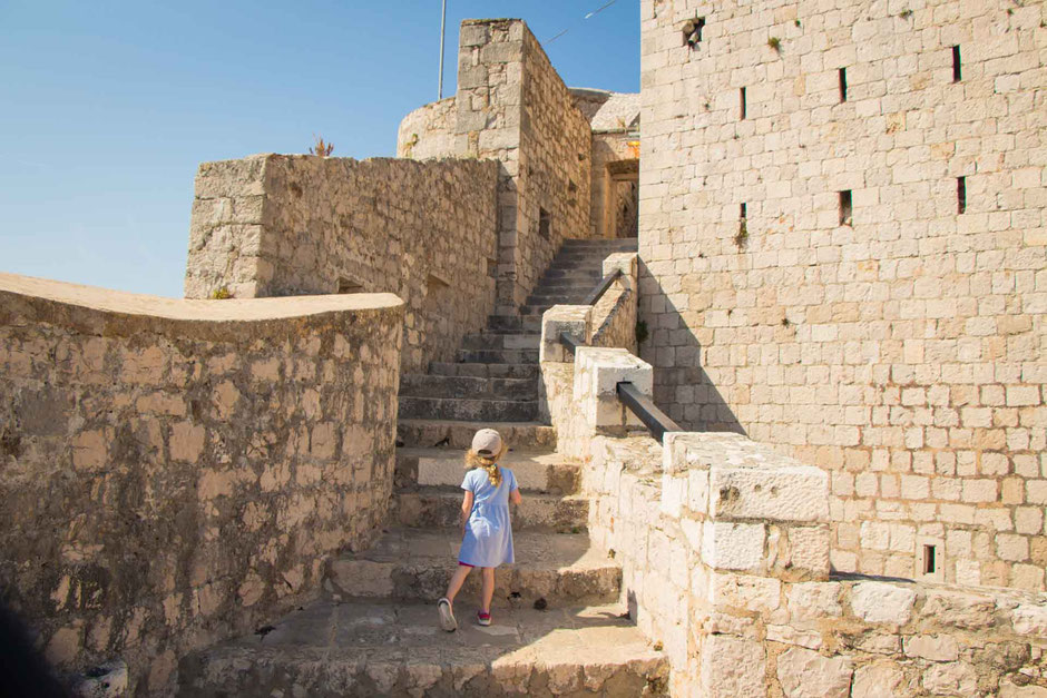 Exploring the Fortress in Hvar, Croatia with Kids
