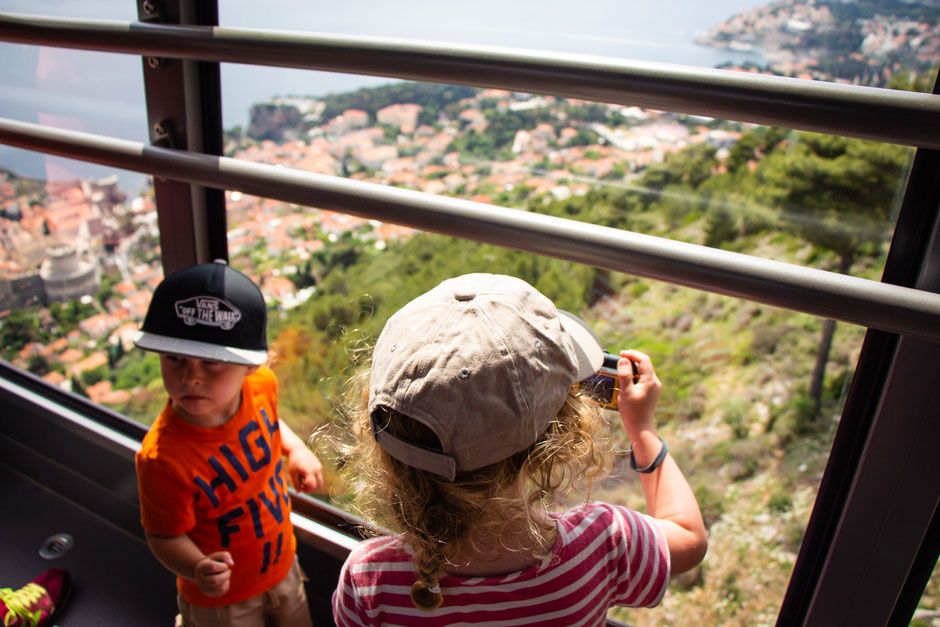 Cable Car up Mount Srd in Dubrovnik, Croatia