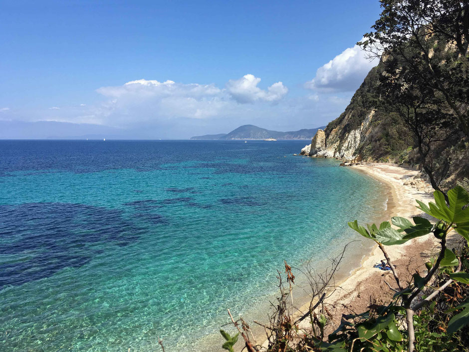 Beaches on the Island of Elba Italy