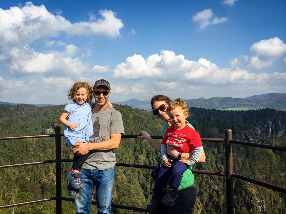 Mariina Vyhlidka in Bohemian Switzerland with Children