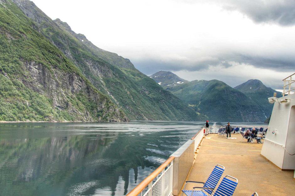 Hurtigruten voyage Alesund to Geirangerfjord Norway