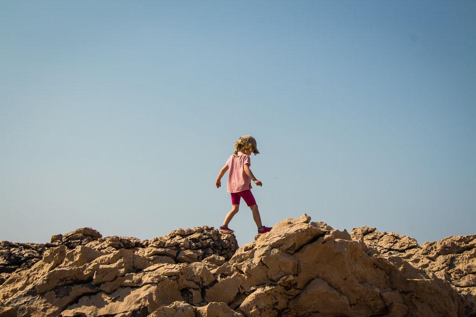 Hiking along Peninsula Raznjic Korcula Croatia with Kids