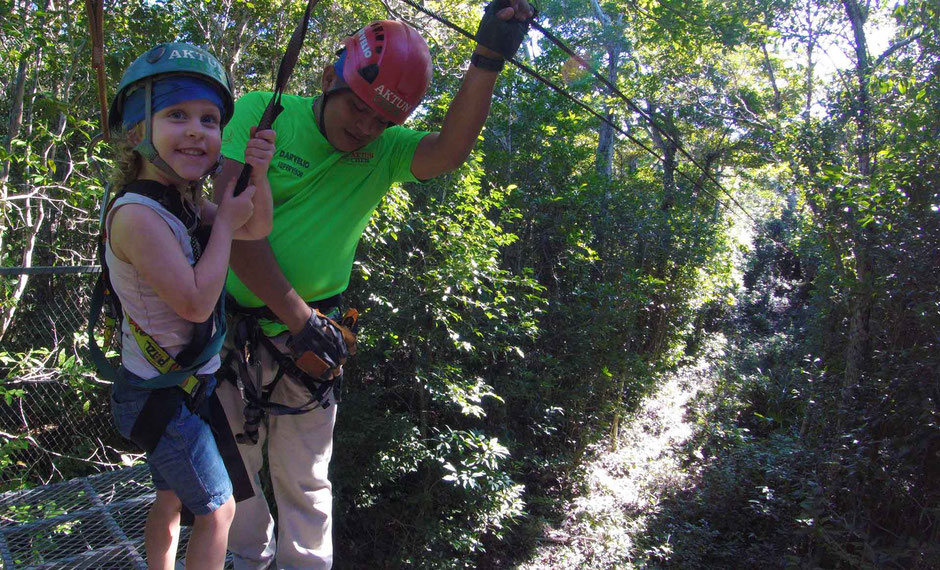 6 Awesome Eco-Adventure Parks in the Mayan Riviera - Aktun Chen - Ziplining for 4 year olds