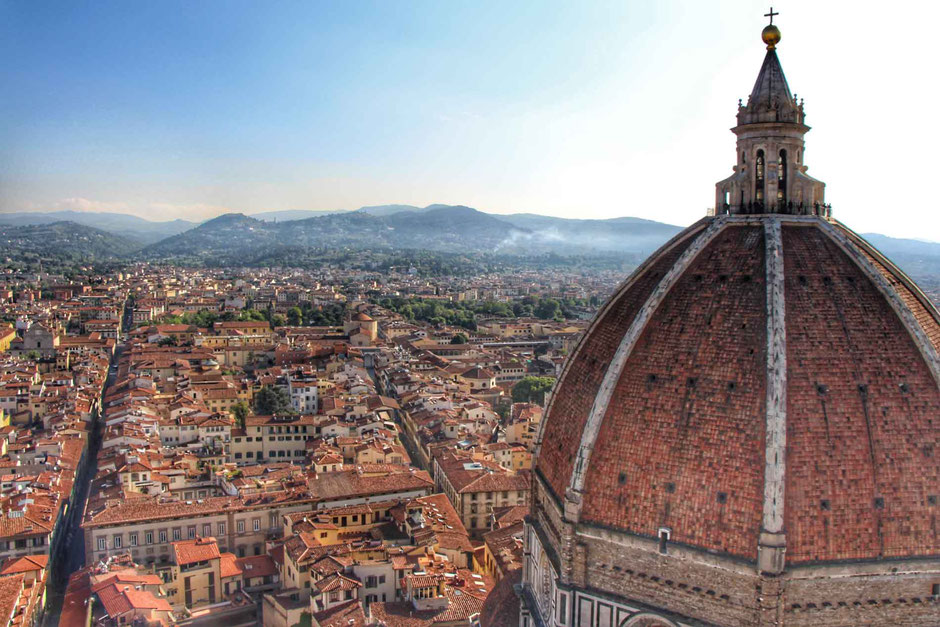 View of Cupola of Brunelleschi in Florence Italy