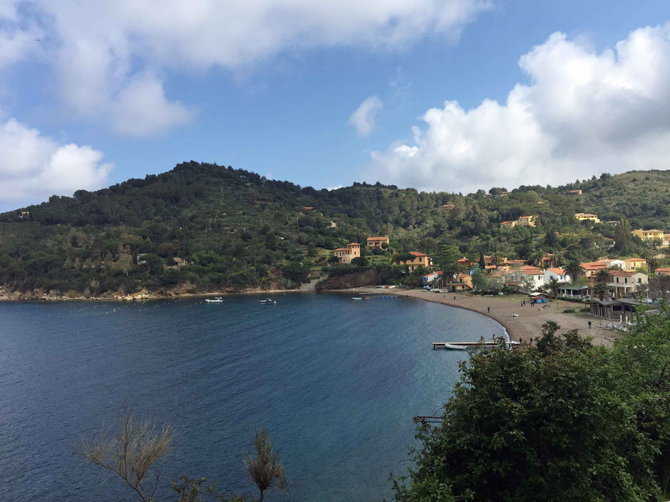 View of Bagnaia on Island of Elba Italy