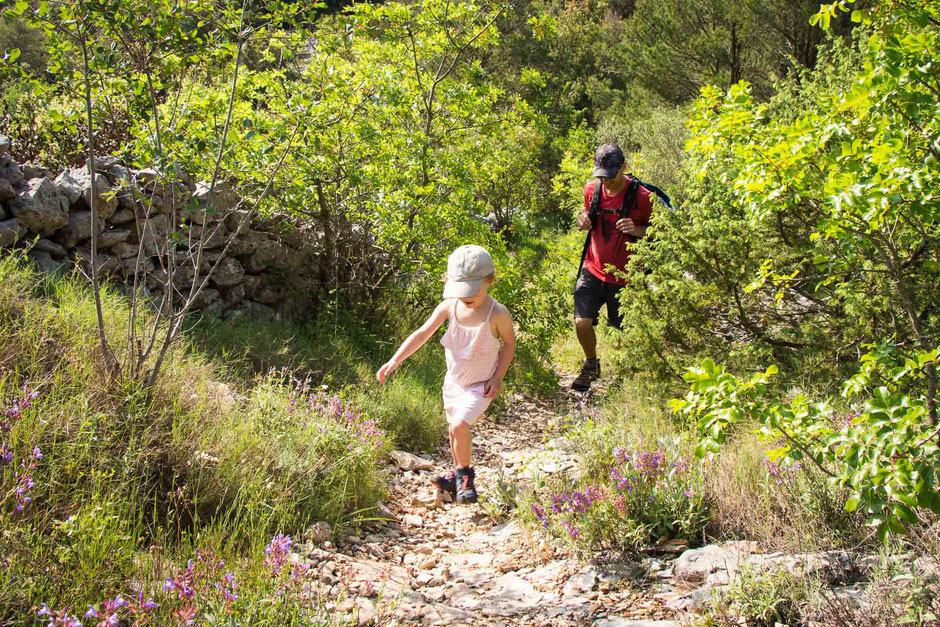Hiking to Kocje protected area on Korcula with Kids