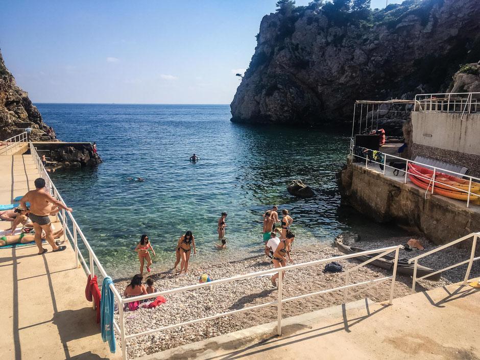 Beach Sulic in Dubrovnik Croatia