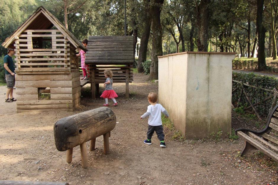 Villa Borghese Gardens Rome playground kids