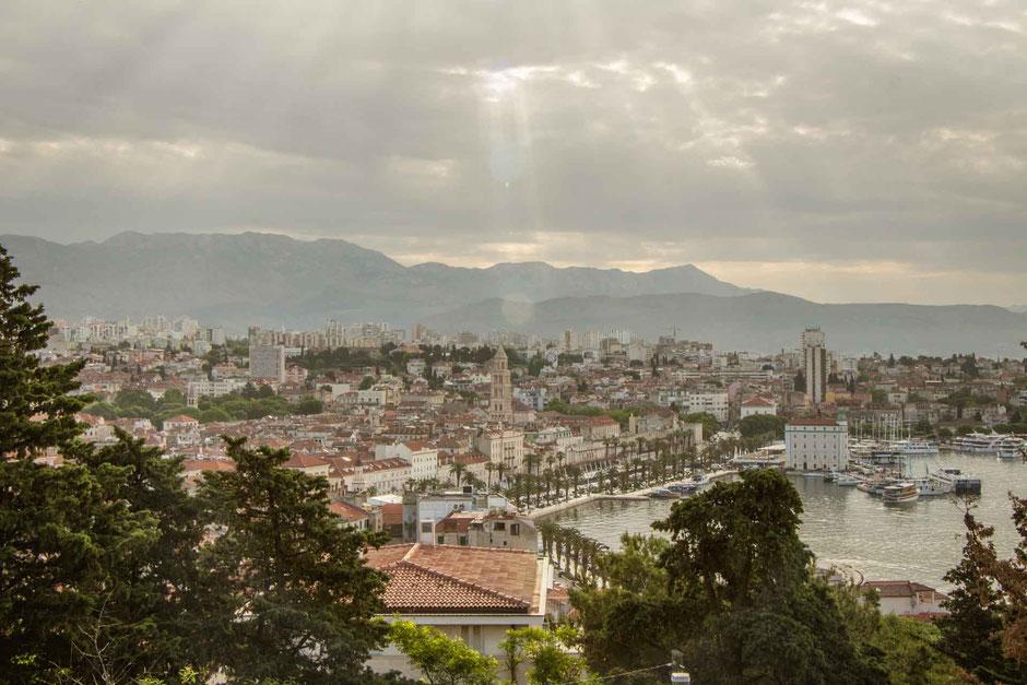 View from Marjan Park in Split Croatia