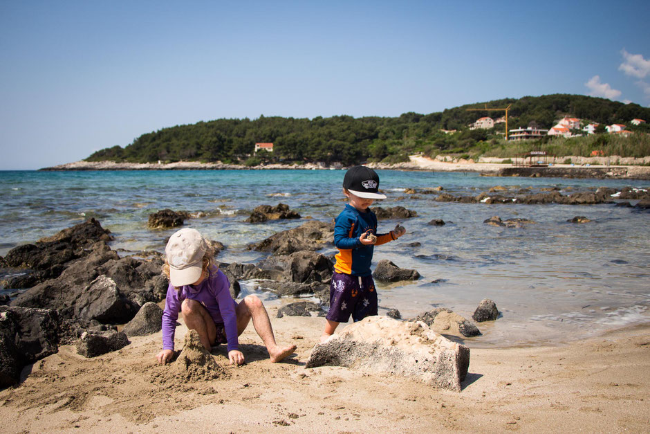 Przina Beach Korcula Croatia with Kids