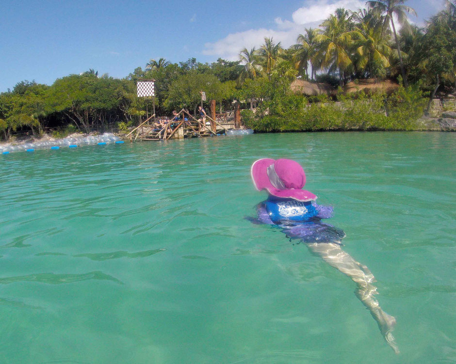 6 Awesome Eco-Adventure Parks in the Mayan Riviera - Xel-ha - cooling off in the calm lagoon