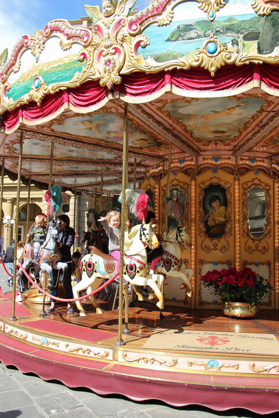 Carousel at Piazza della Repubblica Florence Italy