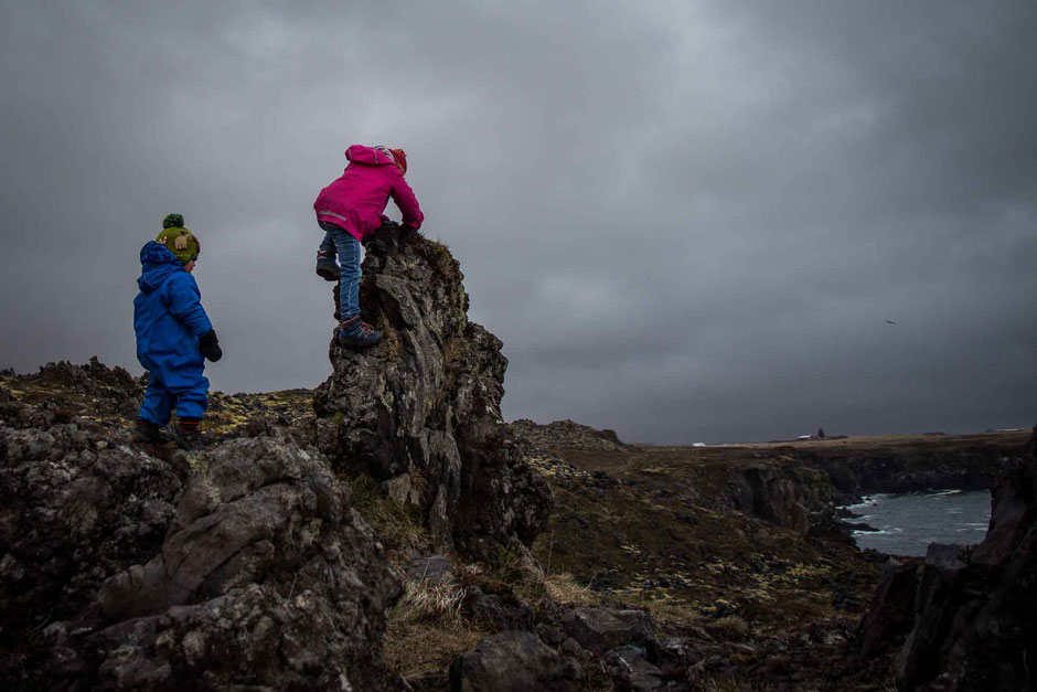 Snaefellsnes Peninsula Iceland with small kids
