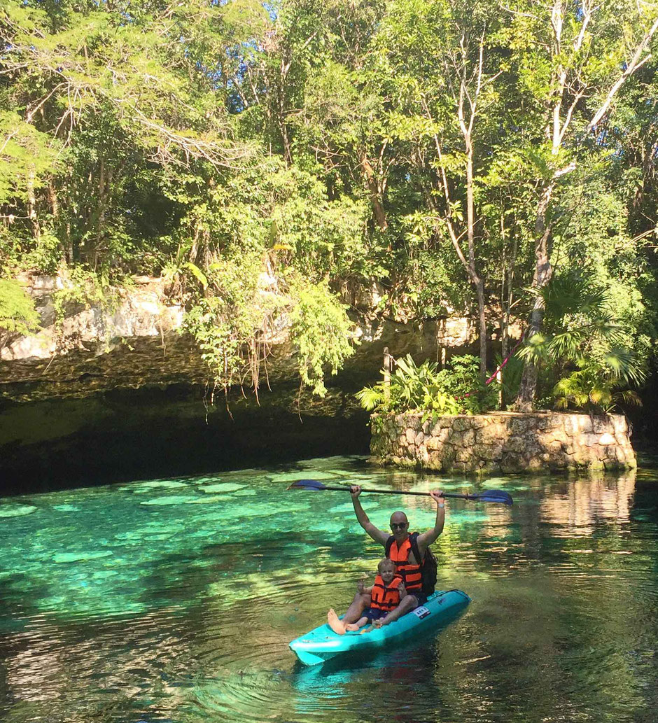 6 Awesome Eco-Adventure Parks in the Mayan Riviera - Ecopark Kantun-Chi - Try Kayaking in an open air cenote