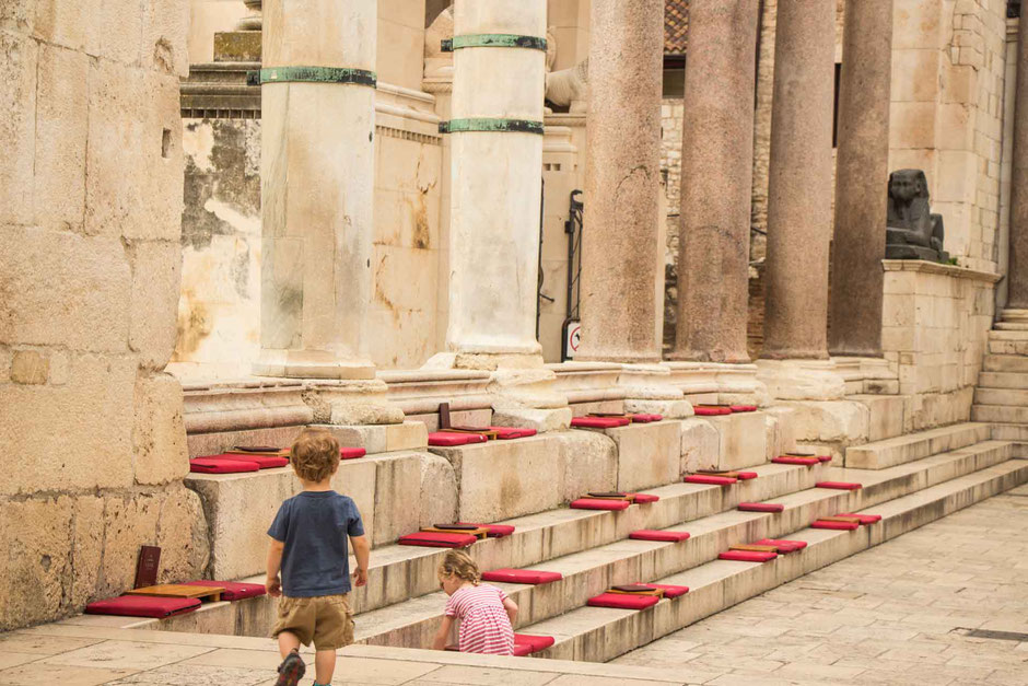 Diocletian's Palace Split Croatia with a toddler