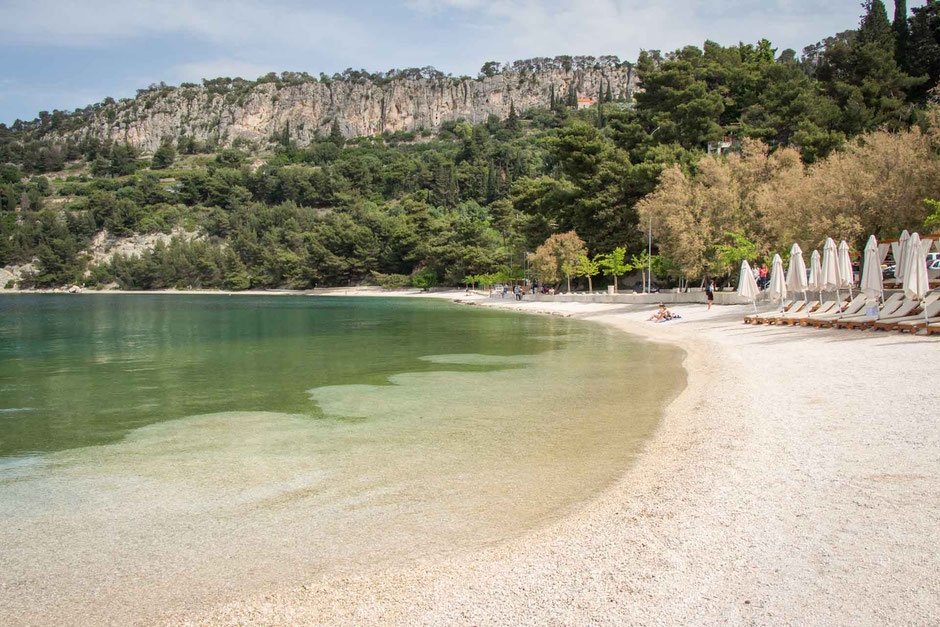 Kasjuni Beach in Split Croatia