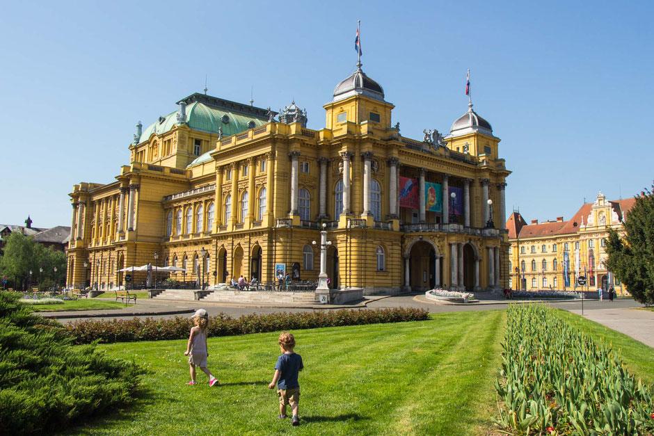 Zagreb Croatia with toddler