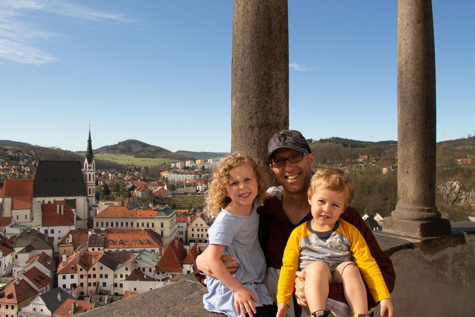 Climbing the Cesky Krumlov Tower with Kids