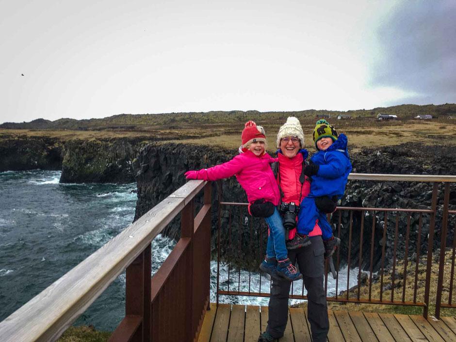 View along hike Arnarstapi to Hellnar Iceland