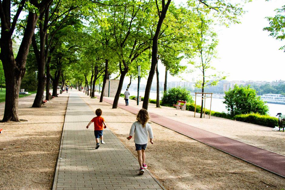 Margaret Island Budapest with children
