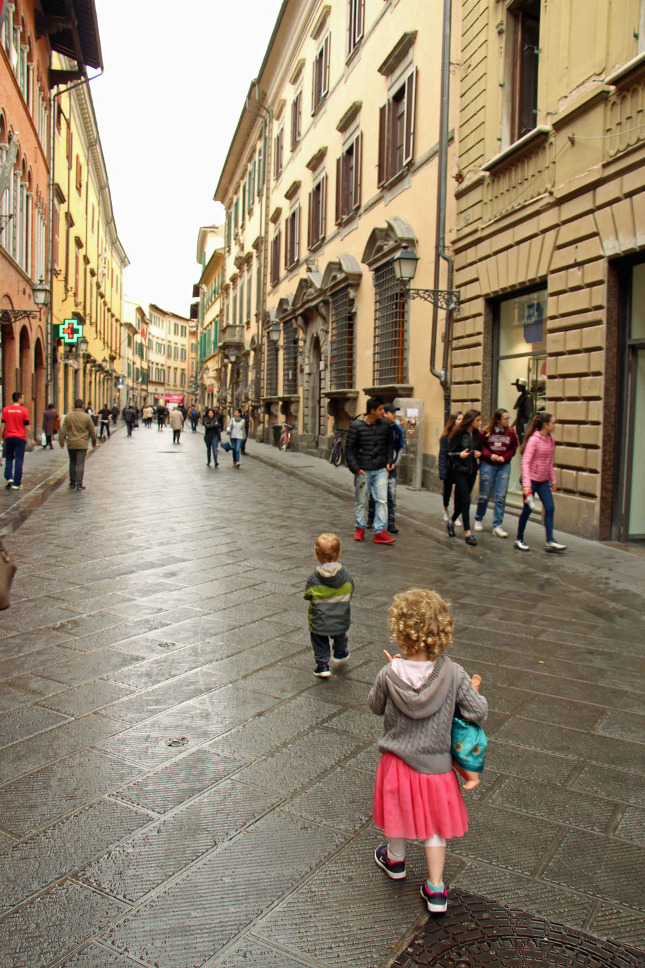 Pisa, Italy with a toddler