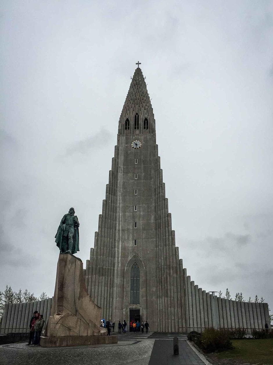 Lutheran church Hallgrimskirkja in Reykjavik Iceland