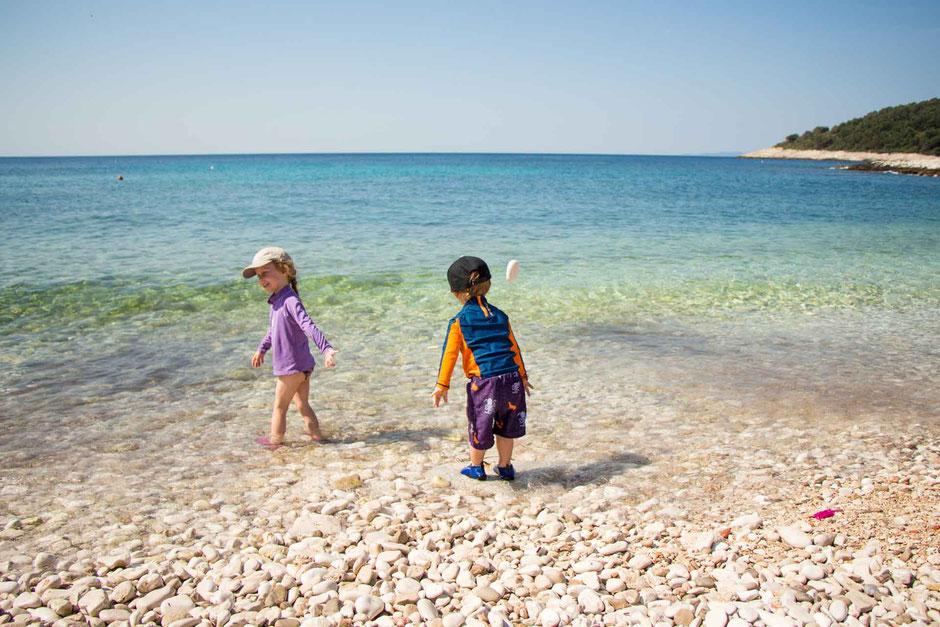 Milna Beach Hvar Croatia with Kids